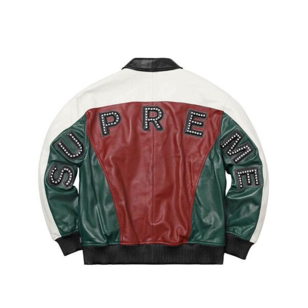 Supreme Studded Arc Logo Leather Jacket