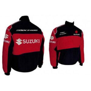 Suzuki GSXR 1400 Motorcycle Red And Black Textile Jacket