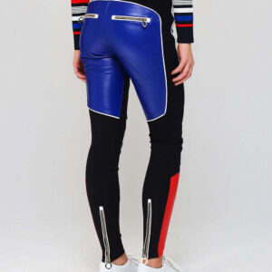 Tommy X Gigi Hadid Color Block Speed Leather Pant