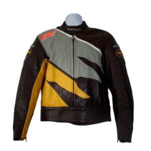 Vanson Suzuki GSXR Motorcycle Racing Leather Jacket