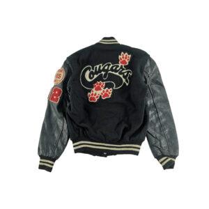 Vintage Cougars Black Grey Varsity Jacket