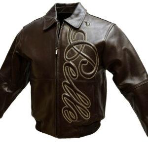 Vintage Pelle Pelle Bomber Brown Leather Jacket