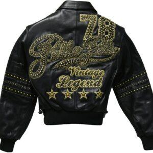 Vintage Pelle Pelle Legend 78 Black Stud Leather Jacket