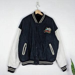 Vintage Walt Disney Mickey Mouse Varsity Bomber Jacket