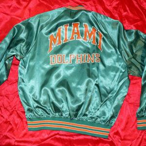 1980s Jeff Hamilton NFL Miami Dolphins Satin Jacket
