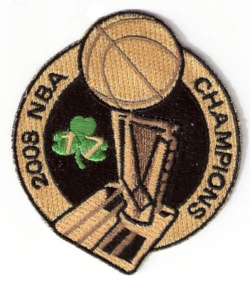 2008 NBA 17th Champions Boston Celtics Patch