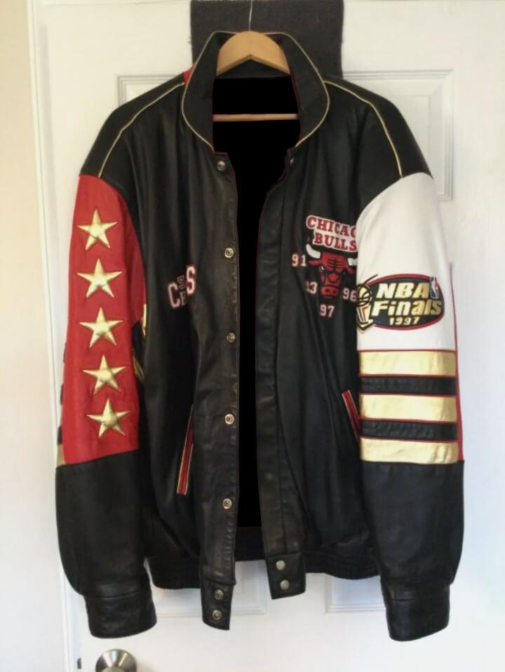 5 Time NBA Champion Chicago Bulls Leather Jacket