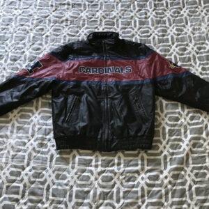 Arizona Cardinals Black NFL Team Leather Jacket