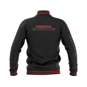 Arizona Cardinals Black Varsity Full Snap Jacket