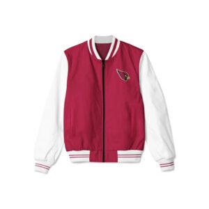 Arizona Cardinals NFL Red White Bomber Jacket