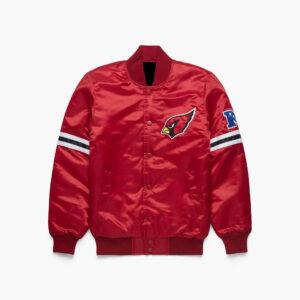 Arizona Cardinals Red NFL Satin Full Snap Jacket