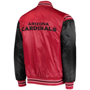 Arizona Cardinals Satin Full Snap Jacket