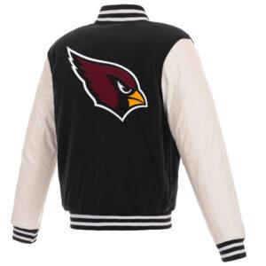 Arizona Cardinals Varsity Black White Full Snap Jacket