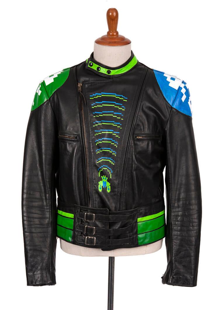 Atari Riot Biker Black Leather Jacket
