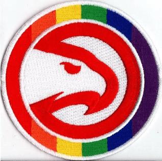 Atlanta Hawks Pride NBA Primary Team Logo Patch