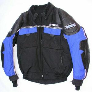 Black Blue Yamaha Motorcycle Racing Jacket
