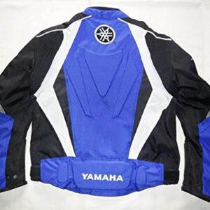 Black Blue Yamaha Motorcycle Racing Textile Jacket