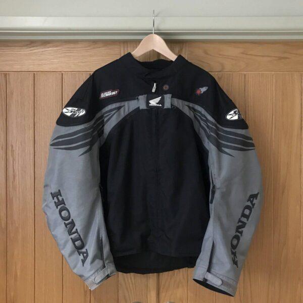 Black Gray Honda Motorcycle Joe Rocket Textile Jacket