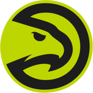 Black Green Atlanta Hawks NBA Primary Team Patch