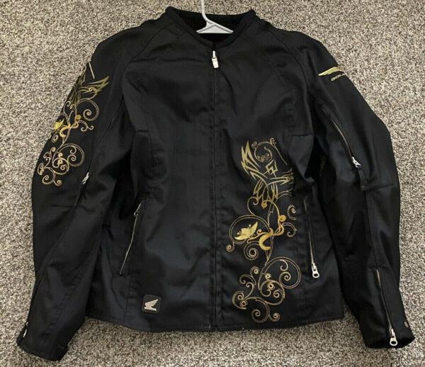 Black Honda Goldwing Motorcycle Racing Textile Jacket