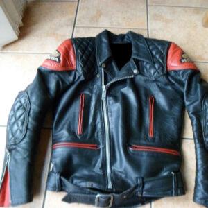 Black Honda Motorcycle Biker Leather Jacket