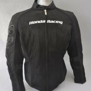 Black Honda Motorcycle Racing Textile Jacket