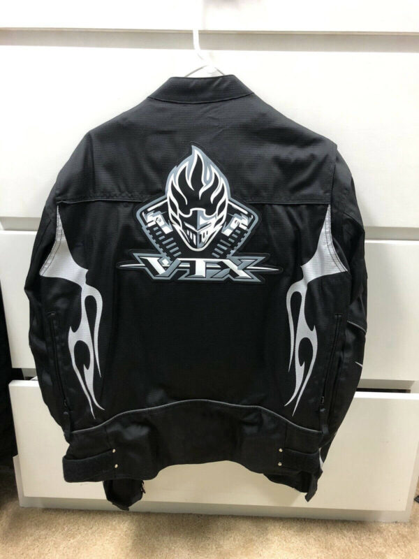 Black Honda VTX Motorcycle Racing Textile Jacket