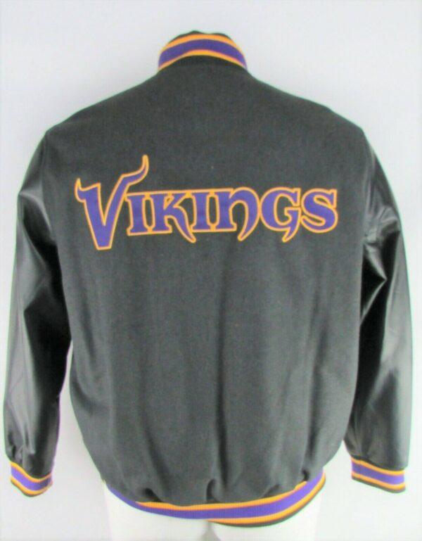 Black NFL Minnesota Vikings Varsity Jacket