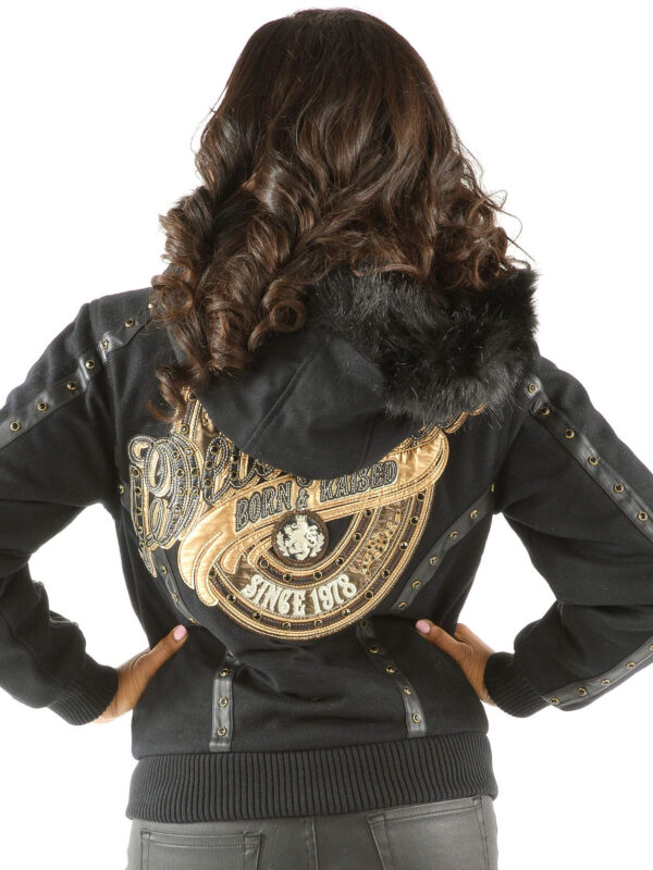 Black Pelle Pelle Born And Raised Hooded Jacket