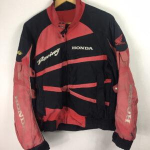 Black Red Honda Motorcycle Racing Textile Jacket