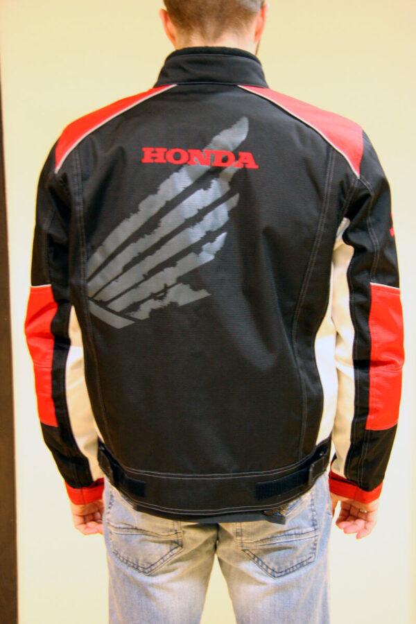 Black Red Honda Motorcycle Textile Jacket