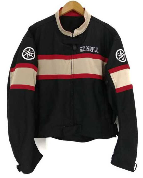 Black Red Yamaha Motorcycle Racing Textile Jacket