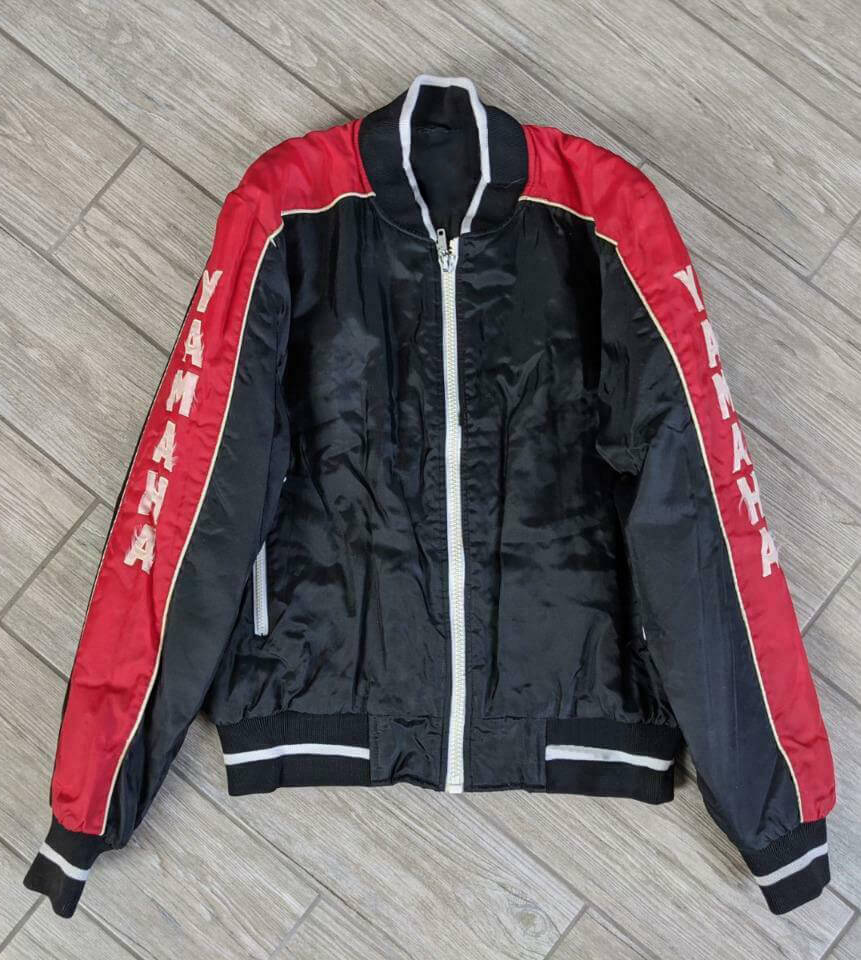Black Red Yamaha Racing Windbreaker Jacket
