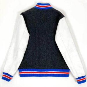 Black Supreme Tiger Leather Varsity Jacket