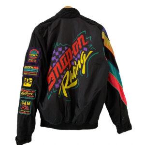 Black Vintage 90s Snap On Racing Jacket