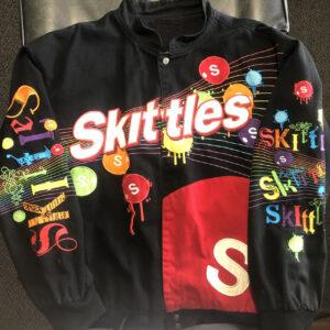 Black Vintage Kyle Busch Skittles Wool Jacket