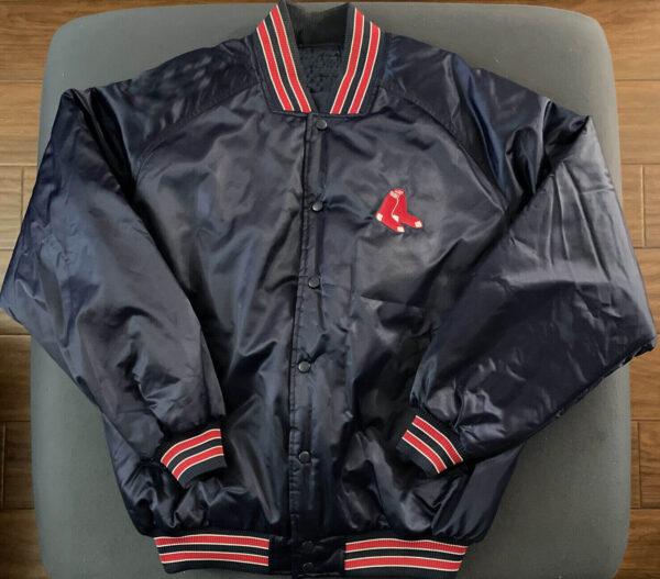 Black Vintage MLB Boston Red Sox Satin Jacket