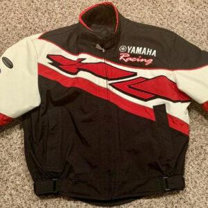 Black White Yamaha Motorcycle Racing Textile Jacket