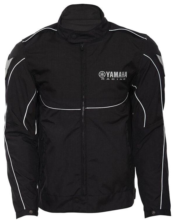 Black Yamaha Motorcycle Racing Textile Jacket