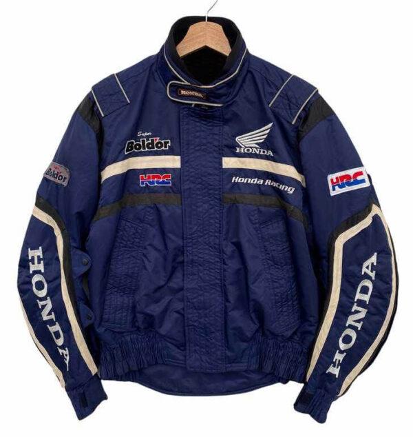 Blue Honda Team Motorcycle Racing Textile Jacket