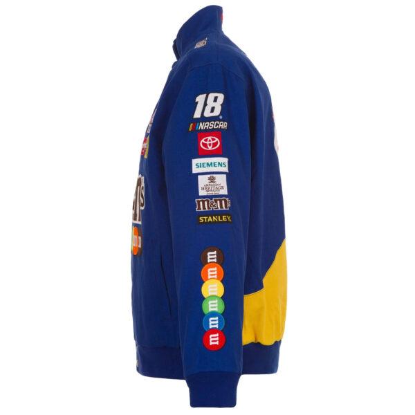 Blue Kyle Busch NASCAR M&Ms Cotton Jacket