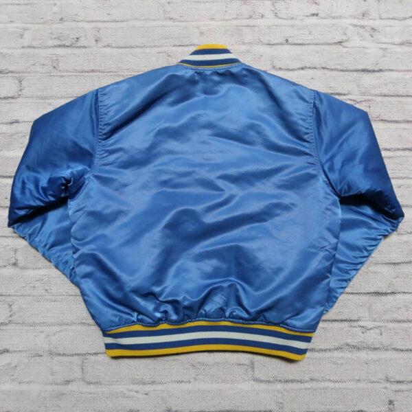 Blue NBA Golden State Warriors Satin Jacket