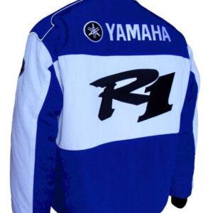 Blue White Yamaha R1 Windbreaker Jacket