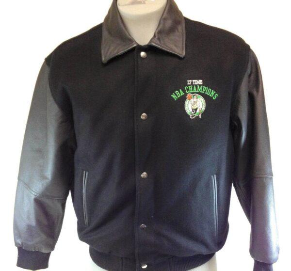 Boston Celtics 17X NBA Champions Black Varsity Jacket