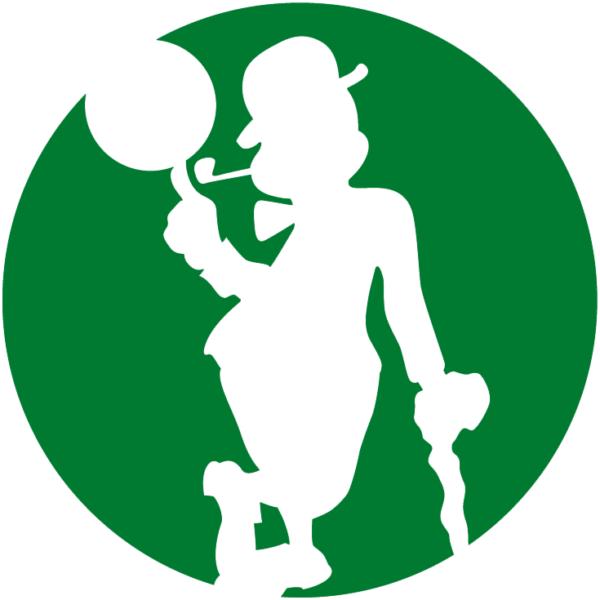 Boston Celtics 2014 Pres Alternate Logo V3 Patch