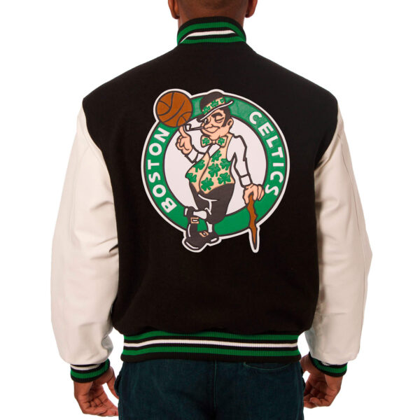 Boston Celtics Black Varsity Jeff Hamilton Jacket
