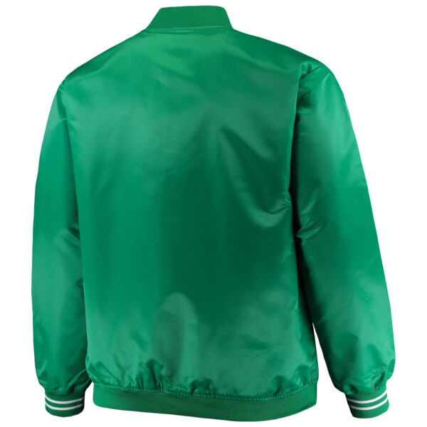 Boston Celtics Hardwood Classics Satin Full Snap Jacket