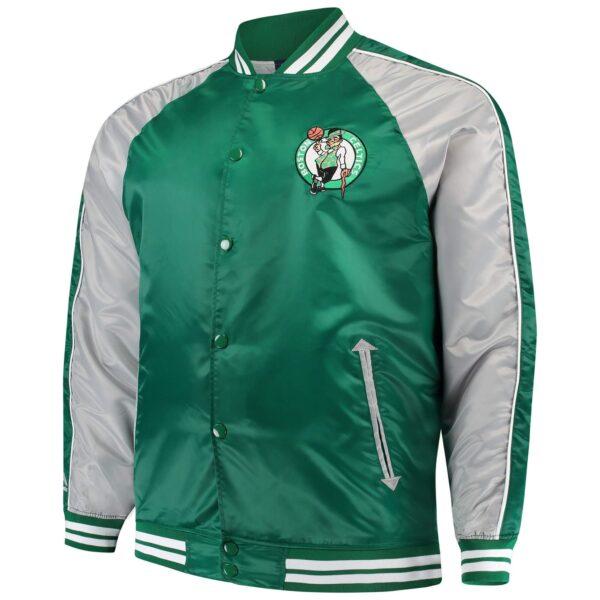 Boston Celtics Lightweight Satin Full Snap Jacket