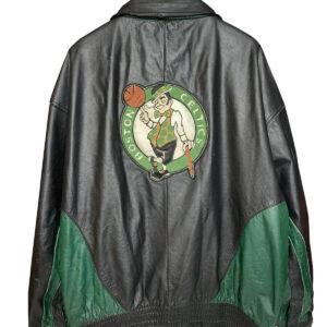 Boston Celtics NBA Black Leather Jacket