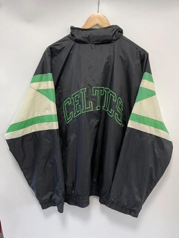Boston Celtics NBA Black Satin Jacket